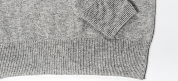 womens boat neck sweater cuff and waist