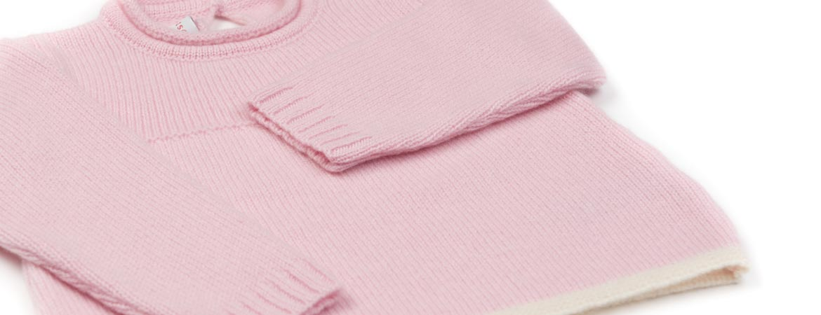 Pure Cashmere Baby Girl Crew Neck