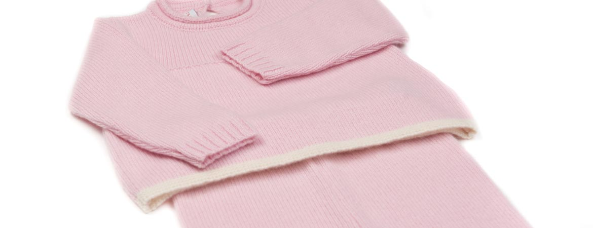 Cashmere Baby Girl Crew Neck Pants Set