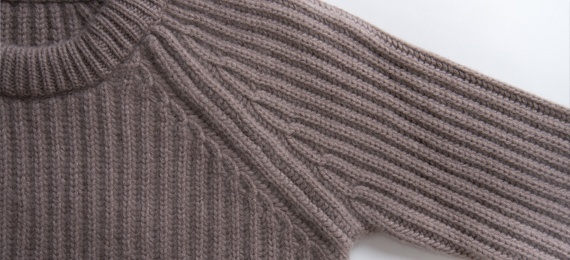 chunky rib sweater details