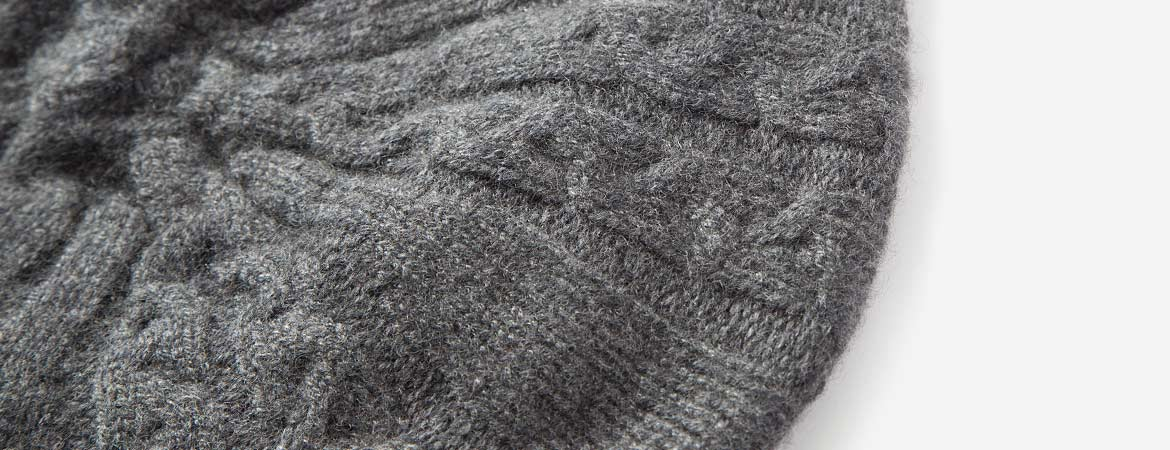 Cashmere Cable Knit Beret