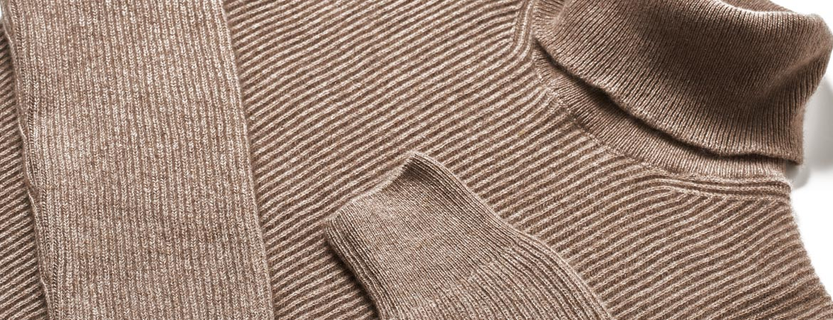 Men Cashmere Fisherman Rib Turtleneck
