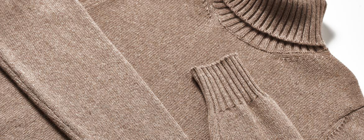 Mens Thick Knit Cashmere Turtleneck