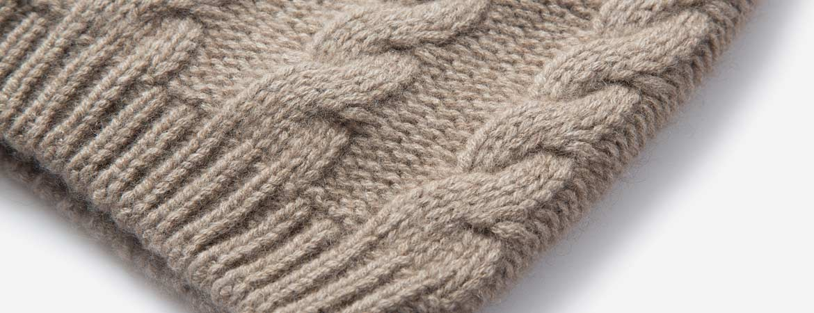 Cashmere Cable Knit Beanie