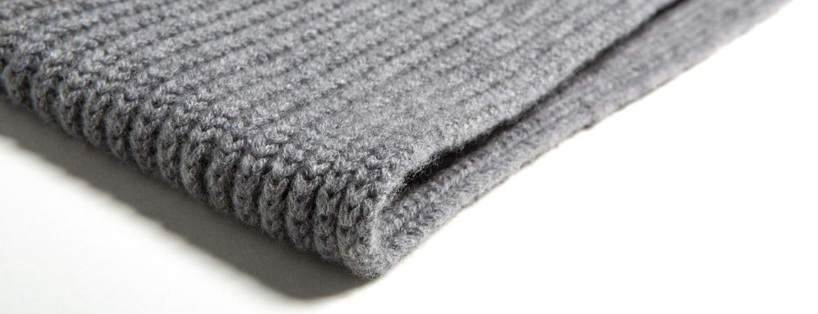 Lambswool & Cashmere Chunky Ribbed Scarf